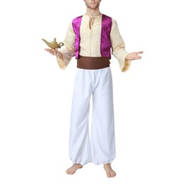Canada Halloween Party Arabia King Dress Costume Cosplay Mâle Adulte Aladdin Prince Lantern Cosplay Costume pour Homme Vêtements supplier adult prince costumes Offre