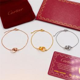 Dames Double Anneaux Amour Bracelets De Mode Haute Rue Style Charme Bracelet Marque Personnalité Cadeaux Amoureux Bracelets Bijoux ? partir de fabricateur