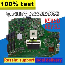 mainboard para laptop Desconto K53SD Motherboard REV 5.1 2 GB GT610M HM65 DDR3 Para ASUS K53SD motherboard Laptop motherboard teste 100% OK