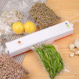 película de vacío Rebajas 220V / 110V Máquina automática de sellado al vacío de alimentos Máquina de sellado al vacío Recipiente de película Ahorrador de sellador de alimentos Mantenga el empaque de alimentos frescos