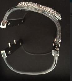 Canada Nouveau bracelet jonc! cristal clair de luxe acrylique bracelets marque bracelets bracelet manchette pour les femmes avec sac cadeau de mariage Offre