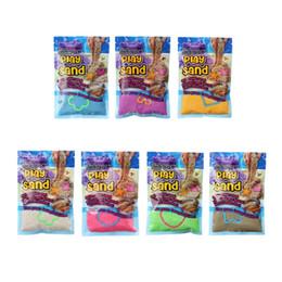 Песочные игрушки онлайн-DIY 100 г / мешок играть песок с 1 Модель крытый магия красочные глины дети обучения развивающие игрушки Рождественский подарок