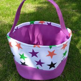 Nuevo diseño de Halloween Bucket Trick or Treat Bucket Cubo de alta calidad Bolsa de asas de Halloween para regalos de niños desde fabricantes