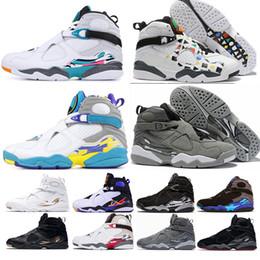 Deutschland Nike Jordan Retro 8 Neueste 8 VIII 8s hochwertige Sneakers Basketballschuhe WHITE AQUA Aqua Chrome Countdown-PACK Drei Playoff Torfmann Sportschuhe Größe 40-47 cheap hight cut shoes Versorgung