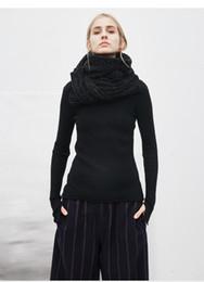 Écharpe tricotée d'hiver pour dames avec de longs foulards tricotés noirs et épais ? partir de fabricateur