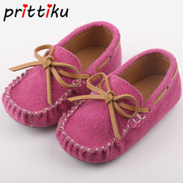 2019 розовое платье для мальчиков 2018 Baby Toddler Boys Girls Real Leather 8 Colors Loafers Little Kid Cute Bowknot Pink Flats Children Fashion  Dress Shoes дешево розовое платье для мальчиков