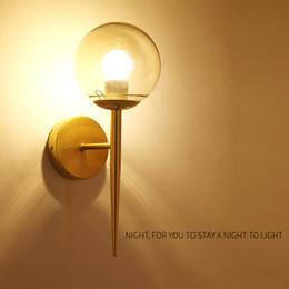 luz noturna dourada Desconto Nórdico Moderno Lâmpadas de Parede Arandelas Preto / Ouro Decorativo Luz Noturna para o Caminho Escada Lâmpada de Cabeceira Do Quarto E27
