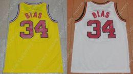 Canada Hommes Len Bias 34 maillot de Basketball Maryland Terrapins College Personnaliser un joueur pour n'importe quel nom Maillots de broderie supplier cheap custom embroidery Offre