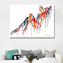 schwarze weiße gemälde lieben Rabatt 1 Stück Bunte Abstrakte Kunst Sexy Girl Nude Kunst Leinwand Malerei Wandkunst Bild für Wohnzimmer Wand Poster Kein Rahmen