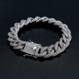 Canada Cuba Bracelet Meilleure Qualité Hip-Hop Bracelet Plein De Diamant Bracelet Micro Zircone Cubique Hommes Bijoux Cuivre18K Or Mode Offre