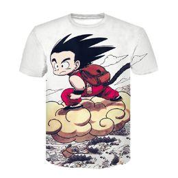 Japão anime roupas on-line-Marca Dragon Ball Camiseta 3d T-shirt Anime Dos Homens T Camisa Engraçada T Camisas Hip Hop Japonês Mens Roupas Roupas Vintage