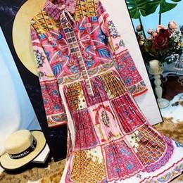 Kleidung Frauen Shirt Maxi Kleid mit langen Ärmeln Mode Blumendruck Kleid Slim Women Casual von Fabrikanten