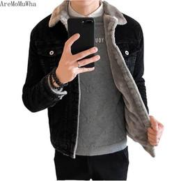 2019 вельвет джинсовая куртка AreMoMuWha 2018 New Coat Corduroy Tide Winter Men's Cotton Coat Korean Lamb Cotton Padded Jacket Denim Winter Clothing дешево вельвет джинсовая куртка