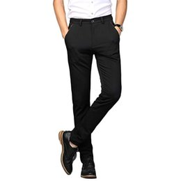 Neue Mode Herren Business Anzughose Design Herren Stretch Kleid Hose Slim Fit Skinny Suit Maßarbeit von Fabrikanten