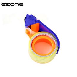 2019 soporte de cinta adhesiva EZONE Cortador Cónico Transparente Dispensador de Cinta Adhesiva School Desktop Blue Washi Tape Holder Dispensador de Embalaje Suministros de Oficina rebajas soporte de cinta adhesiva