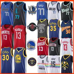 james harden jersey Rebajas NCAA James Harden 13 Nikola Jokic 15 30 35 Jersey Stephen Curry Luka Kevin Durant 77 Doncic Kristaps 6 Porzingis Colegio Baseketball jerseys