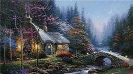 2019 peintures militaires diamant peinture maison forêt diy paysage broderie diamant rond point de croix kit strass pleine maison BB0443 décoration en mosaïque