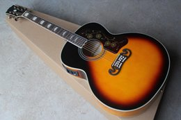 vintage guitars Promo Codes - Free shipping Acoustic Electric Guitar Vintage Sunburst with fisherman pickups in stock