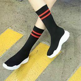 filet élastique Promotion 19 ans de nouvel été vente chaude loisirs loisirs haute aide tricotée chaussures élastiques à la spatule respirant filles chaussures nettes