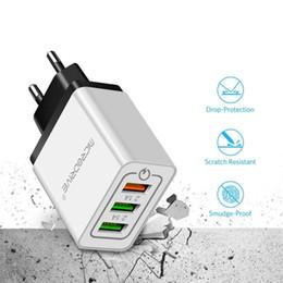 Evrensel 18 W USB Hızlı Şarj 3.0 5 V 3A Samsug S8 S9 HuaweiEU ABD Plug Cep Telefonu için Hızlı Şarj Şarj Iphone X Xr nereden cep telefonu şekerlemeleri tedarikçiler
