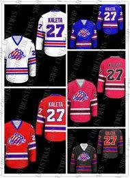 Дешевые американские хоккейные трикотажные изделия онлайн-Дешевые Пользовательские Рочестер Американцы Хоккей Джерси Новая Стежка Бесплатная Доставка Сшитые Настроить любое имя номер