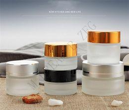 2020 5g glas kosmetikglas Leer 50g Frosted Augencreme Glasglas Topf Skin Care Augencreme Maske Flasche kosmetische Behälter Refill Flasche Make-up-Tool - 5g rabatt 5g glas kosmetikglas