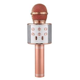 WS-858 Bluetooth беспроводной микрофон HiFi спикер магия караоке плеер MIC Party спикеры запись музыки для сотового телефона планшеты ПК Оптовая от