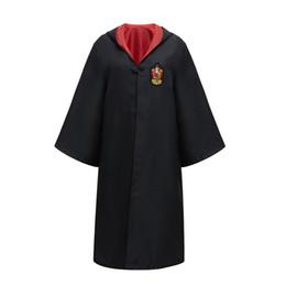 harry potter gryffindor robe Rabatt Kinder Cosplay Umhang Kostüm Erwachsene Halloween Harry Potter Set Magische Robe Gryffindor Slytherin Ravenclaw Robe Umhang Krawatte Anzüge