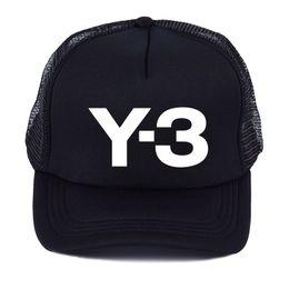 d15c9b829e5 2019 New Y-3 Dad Hat Truck driver net cap youth men and women summer  baseball cap fashion shade