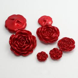 100 pz 35mm in resina di colore solido pulsanti in rosa cucito tinti jeans bottoni in plastica candy ladies indumento grande fiore bottoni cappotto per i vestiti da