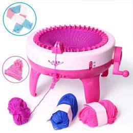 40 positions d'aiguille grande main machine à tricoter métier à tisser à tricoter pour Scraf chapeau enfants apprentissage éducatif jouet tricotant outils ? partir de fabricateur