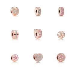 Fit Pandora S925 серебро Diy аксессуары для позиционирования зажима для цветов пряжки бисера браслеты женщин эля кубического циркония европейский бисер ювелирные изделия от