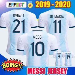 Maillot argentine en Ligne-Thaïlande 2019 Argentine Maillots de football Copa America 2020 équipe nationale MESSI DYBALA HIGUAIN ICARDI Kit de maillots de football
