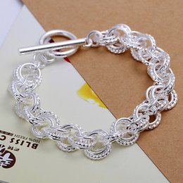 9c43d46d4 Silver plated female models wedding women lady gorgeous charm circle  Bracelets fashion jewelry birthday gift H023