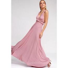 Vestidos convertibles más tamaño online-Mujeres sexy Multiway Wrap Convertible Boho Maxi Club vestido rojo vendaje vestido largo del partido de las damas de honor túnica Longue Femme más el tamaño Y190117