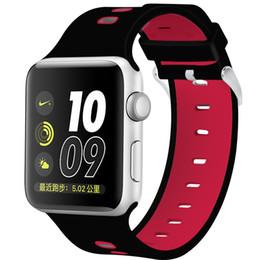 2019 резиновые браслеты 42мм 38мм 2pin Резиновые Силиконовые Отверстия Петли Запястье для Apple Watch ремешок ремешок Спортивный браслет для Apple iWatch серии 1 2 3 дешево резиновые браслеты
