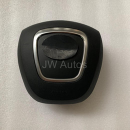 2019 emblème d'octavie Couverture d'airbag de conducteur de voiture SRS pour Audi A4L A6L C6 B8 Q5 Q7 Couverture d'airbag de volant avec emblème