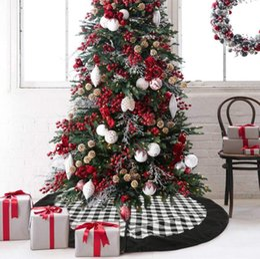 2019 decorazioni natalizie di babbo natale Babbo Natale Albero Gonna nera griglia della tela Albero gonna di Natale Decorazione albero di Natale rifornimenti di natale decorazioni all'ingrosso LXL496 sconti decorazioni natalizie di babbo natale