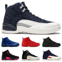 separation shoes fb024 6bf92 air jordan retro 12 gros 12 12 taureaux hommes chaussures de basketball  gamma bleu taxi jeu de grippe le maître Gym rouge formateur hommes sport  chaussures ...