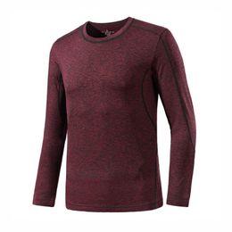 2019 Marca Exercício de Fitness Camisola Mens Esportes Ao Ar Livre Mangas Compridas T camisas PrimaveraAutumn Correndo / Ginásio Camisas de