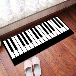 Almohadilla de piano online-Envío gratis 3D teclas de piano cocina alfombra larga estera de la puerta de la sala de estar rectángulo alfombra lecho de los pies pad Bay Bay Pad antideslizante