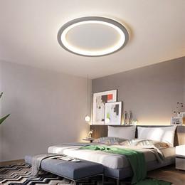 2020 luz de teto minimalista moderna New cinza / branco minimalista moderno levou luz de teto para sala de estar luzes da sala Quarto LEDlamp luz da lâmpada do teto luminárias luz de teto minimalista moderna barato