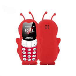 kind spielzeug biene Rabatt Handy-Mini-Kind Schüler Bluetooth 2G GSM Unterstützungs-TF-Karte Doppel-SIM MP3-Musik-Spielzeug-Geschenke V5 Phone Bee Kind Small Size