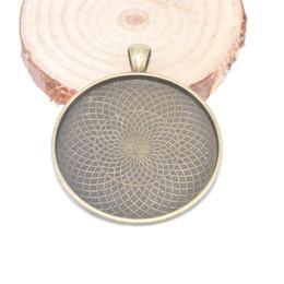 joyas antiguas camafeo Rebajas Diy en blanco colgante bandeja de ajuste diámetro 40 mm camafeo base de plata antigua de bronce antiguo collar base ajuste diy biseles de joyería