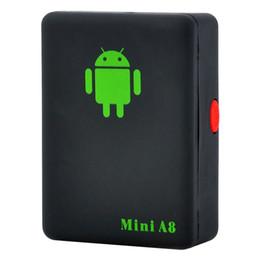 Auto tracker sicherheit online-2019 Mini A8 Auto GPS-Verfolger globale Realzeit 4 Frequenz GSM / GPRS-Sicherheit Auto Tracking Device Support Android