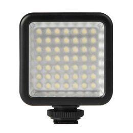 panel de video led de iluminacion Rebajas Luz de video LED ultra brillante TOP - LED 49 Luz de video de panel de alta potencia portátil ultra brillante de intensidad regulable, luz