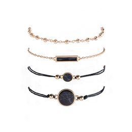 установить многослойный браслет Скидка Black Stone Stackable Bracelet Set Богемный Квадрат Многослойные Браслеты Дизайнерский Браслет Пляжные Украшения для Женщин Уилл и Сэнди 320265