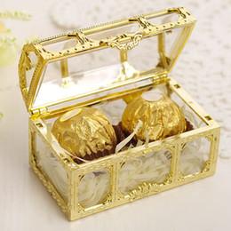 Mini caixas para doces on-line-Bombom Caixa Caixa de tesouro favor do casamento Mini Caixas de presente Food Grade de plástico transparente Jóias stoage Caso ZZA1386-1