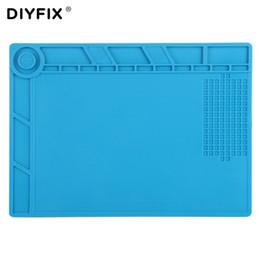2019 типы шарикоподшипников DIYFIX S140 35x25см Теплоизоляция Силиконовый коврик Настольный коврик Платформа для обслуживания с магнитным сечением BGA Инструмент для ремонта пайки