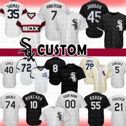 Michael baseball on-line-7 Tim Anderson Chicago Custom White Sox camisa de beisebol 45 Michael 10 Yoan Moncada Thomas 8 Jackson Jimenez Abreu Fisk 21 Todd Frazier a1